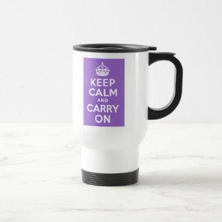 Amethyst Keep Calm and Carry On Travel Mug
