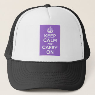 Amethyst Keep Calm and Carry On Trucker Hat