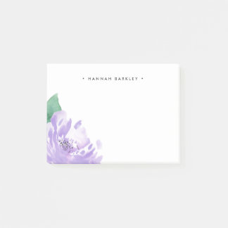 Amethyst Peony   Personalized Post-it Notes