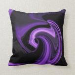 Amethyst Purple Abstract Heart Throw Pillow