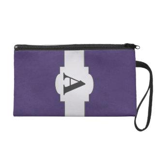 Amethyst Purple Color Velvet Custom Home Casino Wristlet Purse