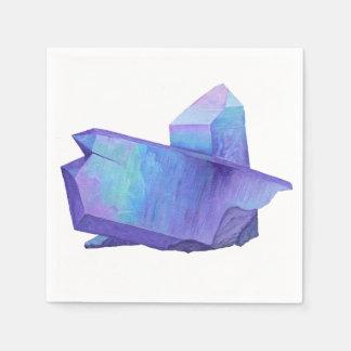 Amethyst purple crystal angel aura quartz geode paper serviettes