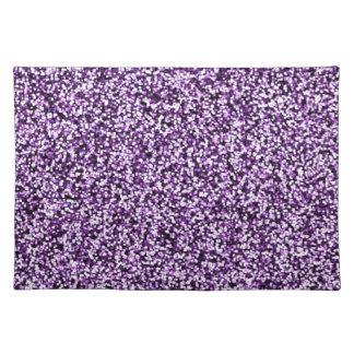 Amethyst Purple Faux Glitter Placemat