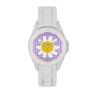 Amethyst Purple Gingham; Daisy Watches