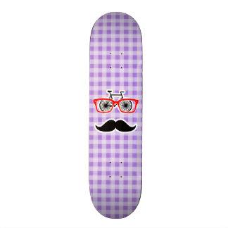 Amethyst Purple Gingham; Hipster 21.6 Cm Old School Skateboard Deck