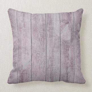 Amethyst Purple Leaf Botanic Wood Cottage Home Cushion