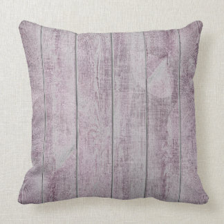 Amethyst Purple Leaf Botanic Wood Cottage Home Throw Pillow