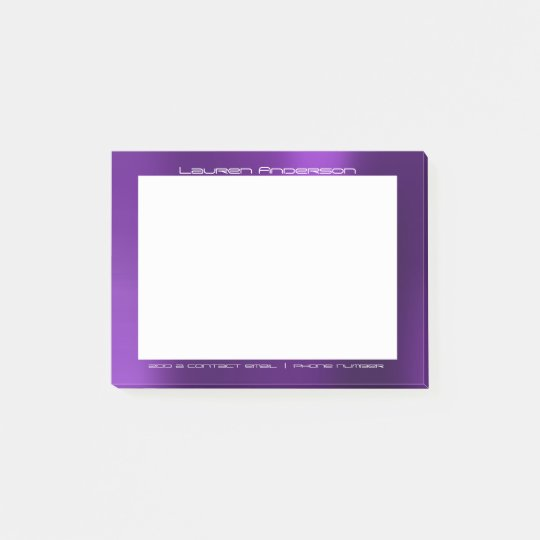 Amethyst Purple Plum Office Custom Personalized Post-it Notes