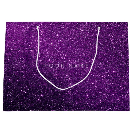 Amethyst Purple White Plum Glitter Favor Gift Star