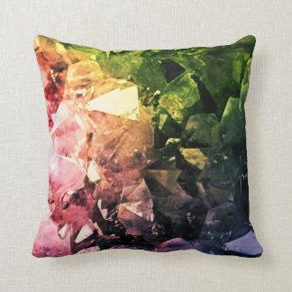 Amethyst Rainbow Throw Pillow