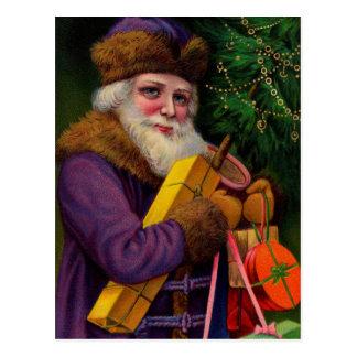 Amethyst Santa Postcard