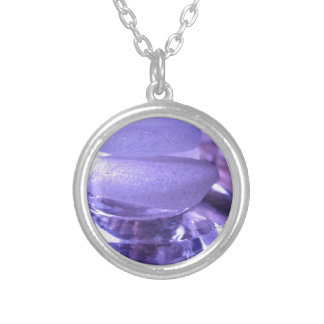 Amethyst Sea Glass Silver Plated Necklace