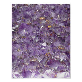 Amethyst Sparkles Poster