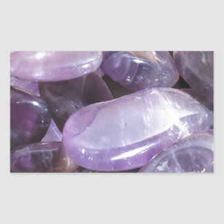 AMETHYST spiritual purple gemstone Rectangular Sticker