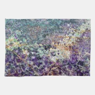 amethyst stone texture pattern rock gem mineral am kitchen towel