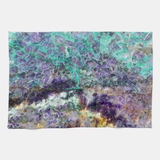 amethyst stone texture pattern rock gem mineral am tea towel