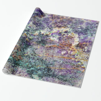 amethyst stone texture pattern rock gem mineral am wrapping paper