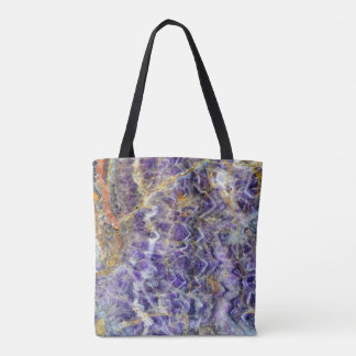 amethyst stone texture pattern rock gem mineral tote bag