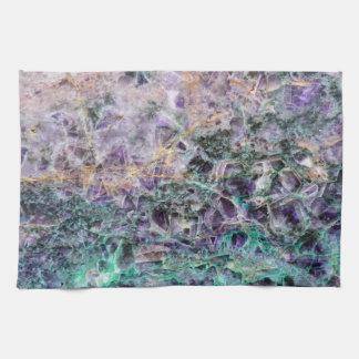 amethyst stone texture pattern rock gem tea towel
