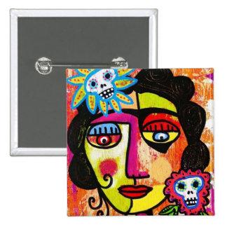 Amethyst Sugar Sull Frida by SilberZweigArts 15 Cm Square Badge
