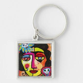 Amethyst Sugar Sull Frida by SilberZweigArts Key Ring