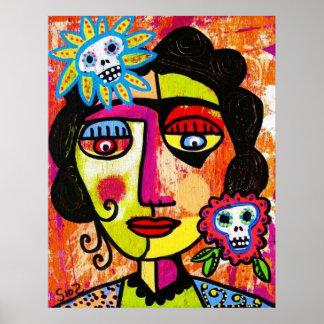 Amethyst Sugar Sull Frida by SilberZweigArts Poster