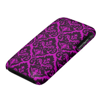 Amethyst Victorian Damask iPhone 3 Cases