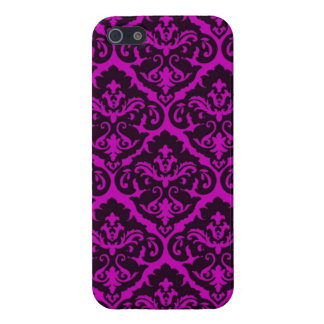Amethyst Victorian Damask iPhone 5 Covers