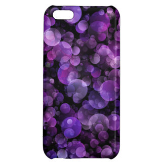 Amethyst Violet Purple Abstract Bokeh Circles Case For iPhone 5C