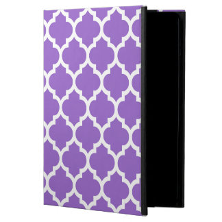 Amethyst White Moroccan Quatrefoil Pattern #5 iPad Air Cover