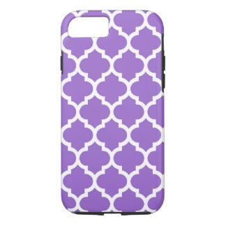 Amethyst White Moroccan Quatrefoil Pattern #5 iPhone 7 Case