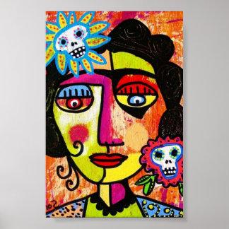 Amethyst Woman Sugar Skull Poster
