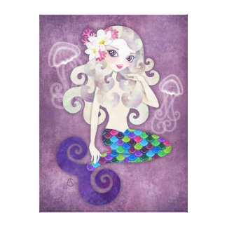 Amethyste Stretched Wrapped Canvas Print Wall Art
