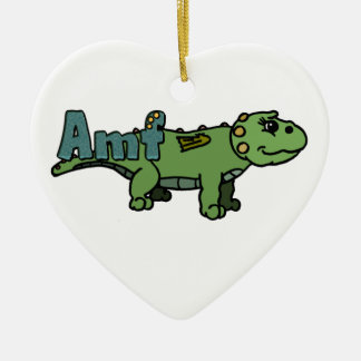 Amf (with name) ceramic heart decoration