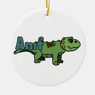 Amf (with name) round ceramic decoration
