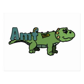 Amf (with name) postcard