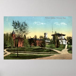 Amherst College Repro Vintage 1912 Print