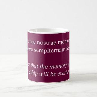 Amicitiae nostrae memoriam coffee mug