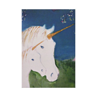 Amid The Unicorns Canvas Print