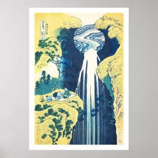 Amida Falls (Katsushika Hokusai 19th century) Poster