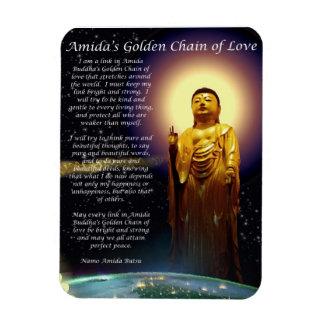 Amida s Golden Chain of Love 1 Flexible Magnet