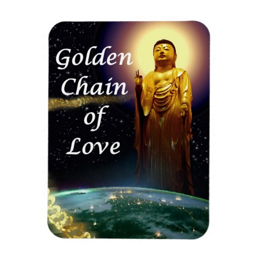 Amida's Golden Chain of Love 3 Rectangle Magnets