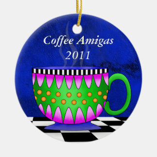 Amigas Tuscan Coffee Cup Ornament