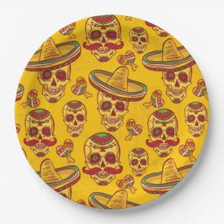 Amigo Skulls Paper Plate