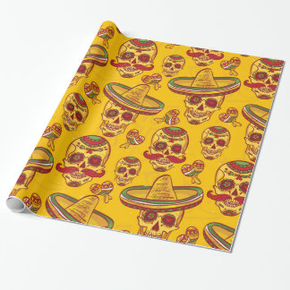 Amigo Skulls Wrapping Paper