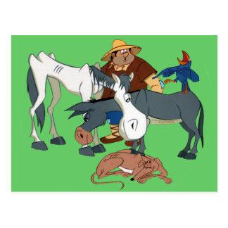 AMIGOS DE DON QUIJOTE - 400 Años - Cervantes Postcard