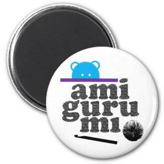 amigurumi 6 cm round magnet