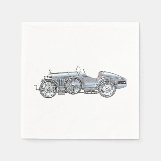 Amilcar Race Car Paper Napkins