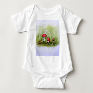 Aminita Muscaria mushroom Baby Bodysuit