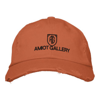 AMIOT GALLERY BURNT ORANGE HAT EMBROIDERED BASEBALL CAP